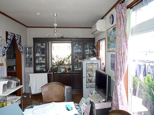 工事前の居間