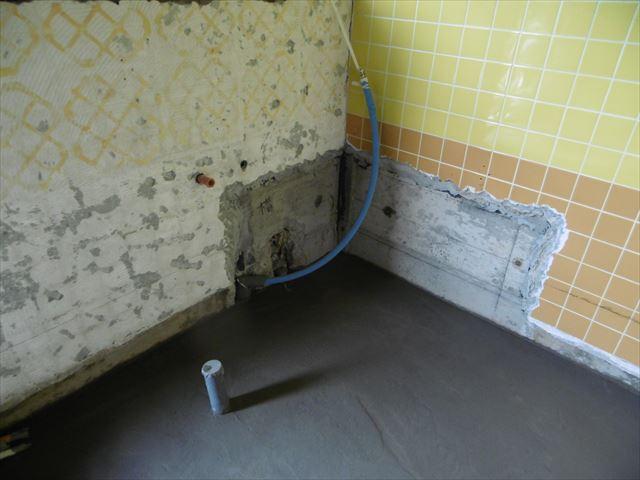 8.浴室内土間コン打設